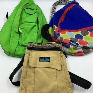 Kavu Bags Set Of 3 Crossbody Rope Shoulder Bags
